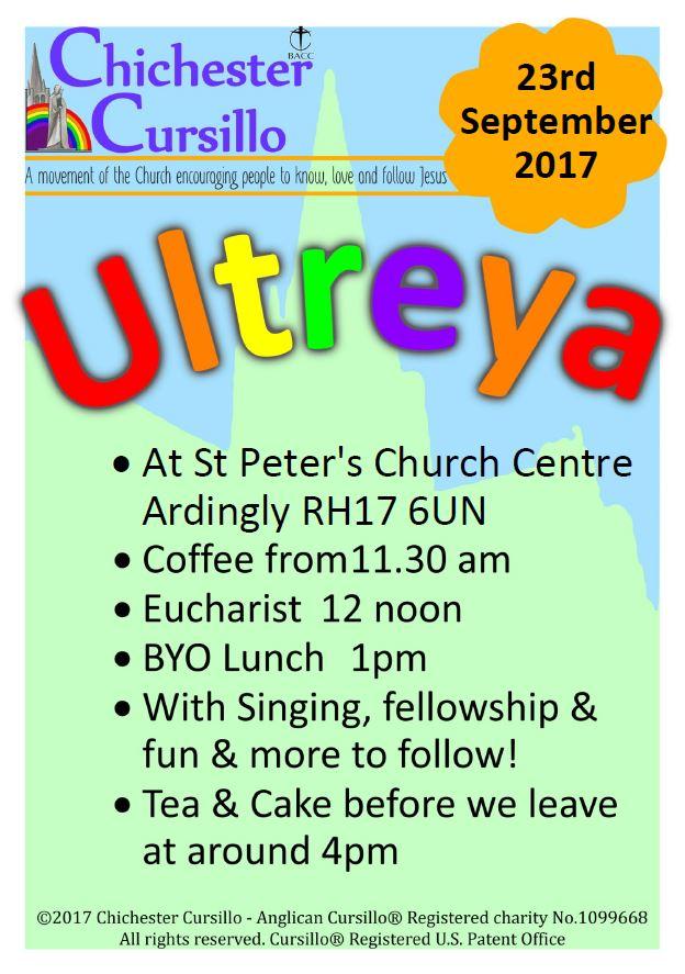 Diocesan Ultreya - Ardingly @ St Peter's Church Centre | Ardingly | England | United Kingdom