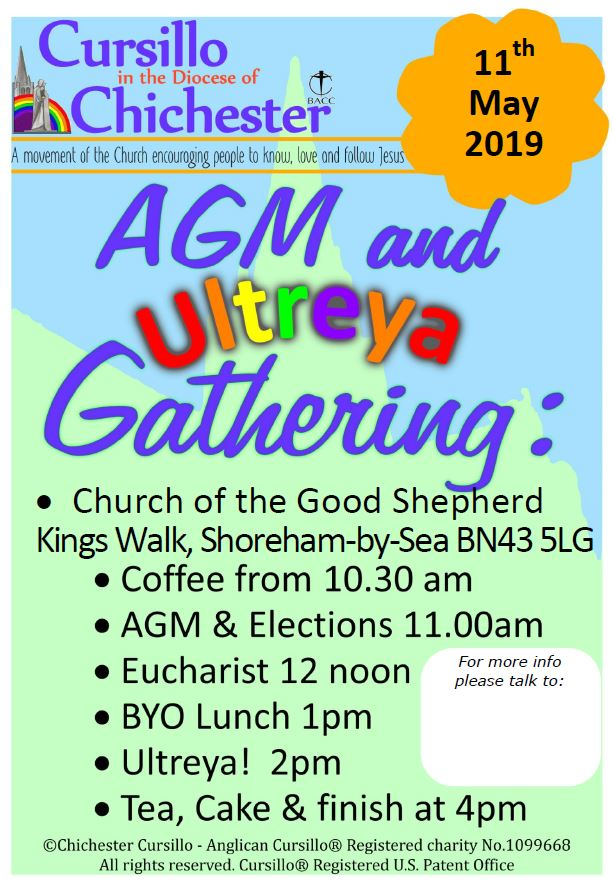 AGM & Ultreya 2019 - Shoreham @ The Church of the Good Shepherd, Kings Walk | England | United Kingdom