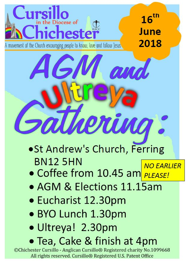 AGM & Ultreya 2018 @ St Andrew's Church, Church Lane | Ferring | England | United Kingdom
